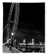 London Eye And London View Fleece Blanket
