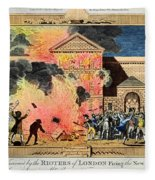 London: Gordon Riots, 1780 Fleece Blanket