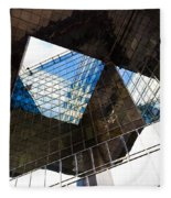 London Southbank Abstract Fleece Blanket