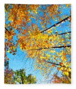 Looking Up At All The Colors Fleece Blanket