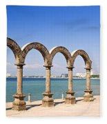 Los Arcos Amphitheater In Puerto Vallarta Fleece Blanket