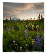 Lupine Sunset Fleece Blanket