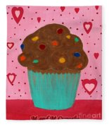 M And M Cupcake Fleece Blanket