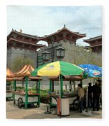 Macau Fisherman's Wharf Fleece Blanket