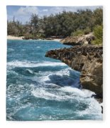 Mahaulepu Beach Fleece Blanket