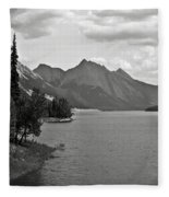 Maligne Lake Fleece Blanket