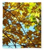 Maple Leaf Canopy Fleece Blanket