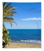 Marbella Beach In Spain Fleece Blanket