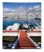 Marina In Puerto Banus Fleece Blanket