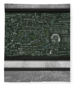 Maths Formula On Chalkboard Fleece Blanket