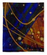 Mickey's Triptych - Cosmos I Fleece Blanket