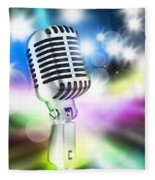 Microphone On Stage Fleece Blanket