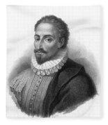 Miguel De Cervantes, Spanish Author Fleece Blanket