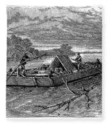 Mississippi: Flatboat Fleece Blanket