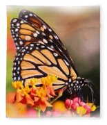 Monarch And Milkweed Fleece Blanket