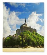 Mont Saint Michel Fleece Blanket