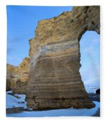 Monument Rocks Arch Fleece Blanket