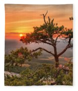 Moore's Knob Sunset Fleece Blanket