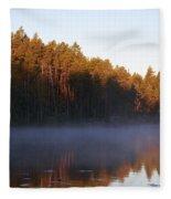 Morning Mist At Haukkajarvi Fleece Blanket