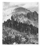 Mount Lassen Volcano Fleece Blanket