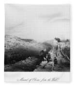 Mount Of Olives Fleece Blanket