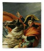 Napoleon Crossing The Alps On 20th May 1800 Fleece Blanket