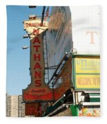 Nathan's Famous At Coney Island  Fleece Blanket