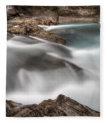 Natural Bridge Yoho National Park Fleece Blanket