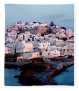 Naxos Island Greece Fleece Blanket
