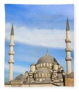 New Mosque In Istanbul Fleece Blanket