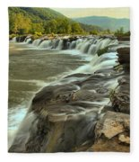 New River Waterfall Fleece Blanket