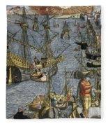 New World: Voyage, 1592 Fleece Blanket