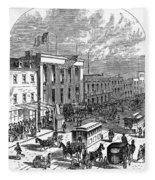 New York: The Bowery, 1871 Fleece Blanket