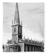 New York: Trinity Church Fleece Blanket