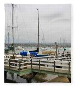 Newport Bay And Balboa Island Fleece Blanket