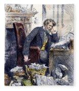 Newspaper Editor, 1880 Fleece Blanket