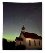 Night Church Northern Lights Fleece Blanket