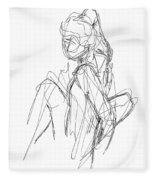 Nude Male Sketches 3 Fleece Blanket
