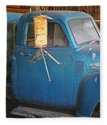 Old Blue Farm Truck Fleece Blanket