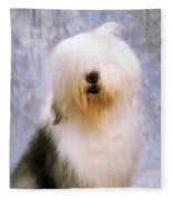 Old English Sheepdog Fleece Blanket
