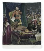Oliver Cromwell Fleece Blanket