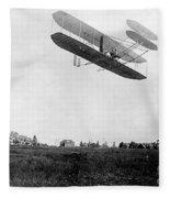 Orville Wright In Wright Flyer, 1908 Fleece Blanket