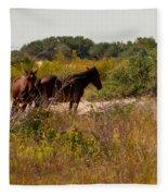 Outer Banks Horses Fleece Blanket