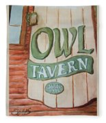Owl Tavern Fleece Blanket