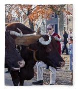 Oxen And Handler Fleece Blanket