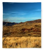 Painted Hills Landscape Fleece Blanket