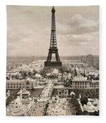 Paris: Eiffel Tower, 1900 Fleece Blanket