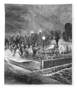 Paris: Sewers, 1869 Fleece Blanket