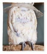 Parrot White Fleece Blanket