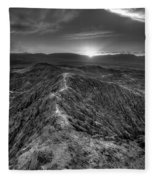 Path To The Sun   Black And White Fleece Blanket